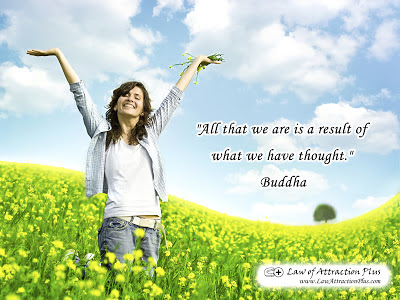Free Law of Attraction Wallpaper with Quote by Buddha