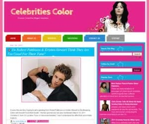 Celebrities Color Blogger Template