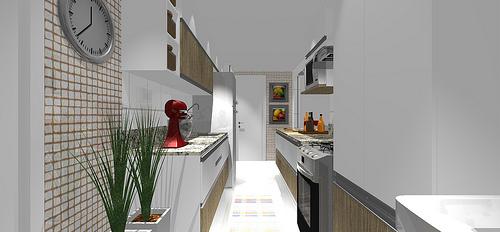 decoracao cozinha e area de servico integradas:Ambientes & Ideias: Uma Cozinha Integrada com a Sala Fazer ou não