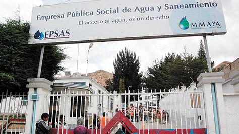 Servicio de agua en La Paz