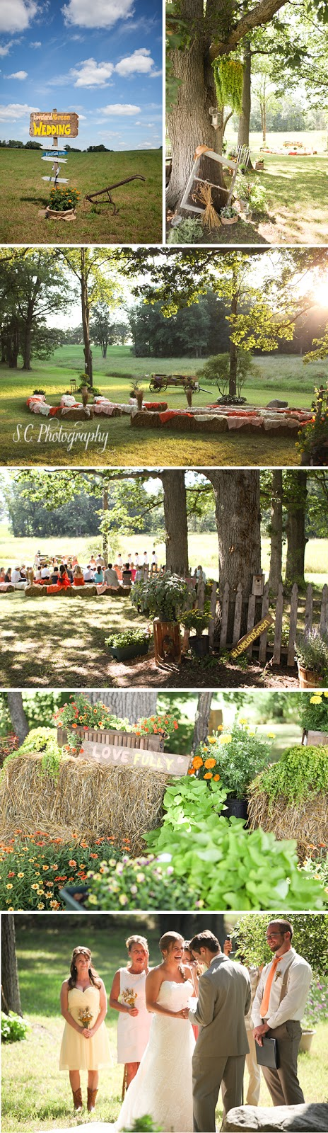 Country wedding, hay, DIY, crafts, pinterest, S.C. Photography