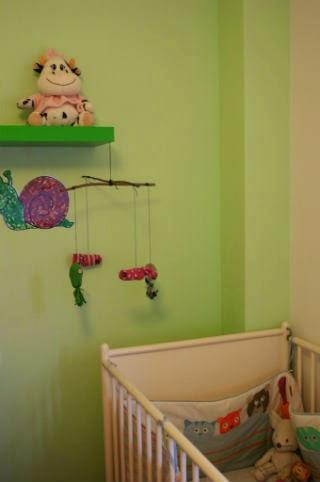 DIY Manualitat infantil mòbil peixos