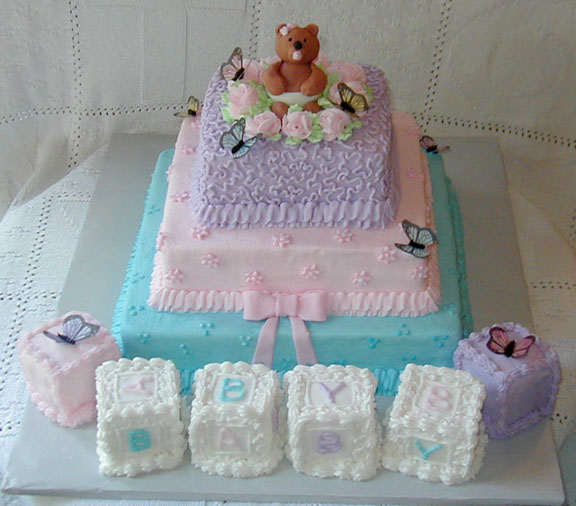 Baby shower cakes baby shower cake for Baby shower cake decoration ideas