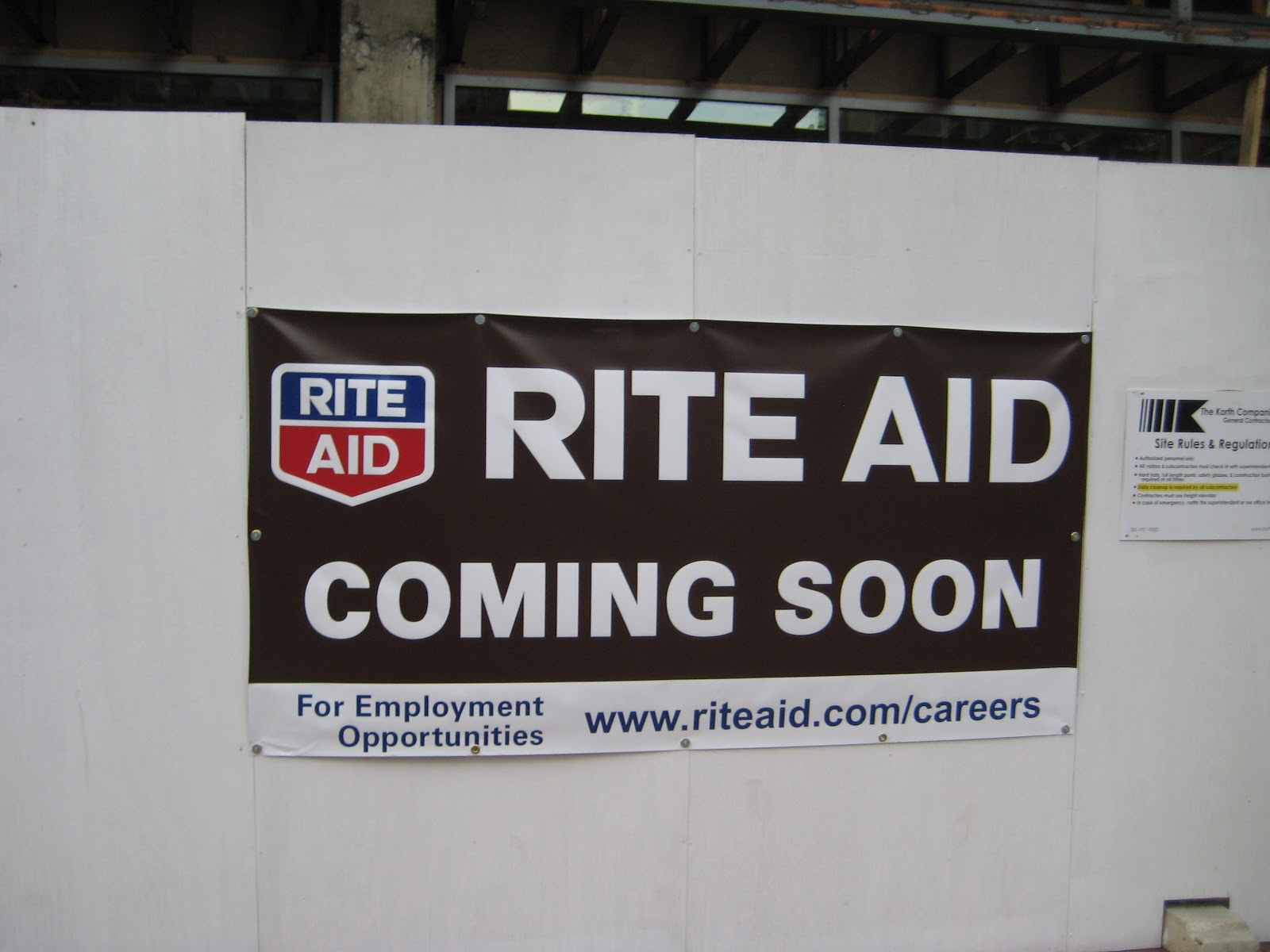 a new rite aid drugstore is under construction at 8701 georgia avenue in downtown silver spring it will be on the ground floor of the zalco building