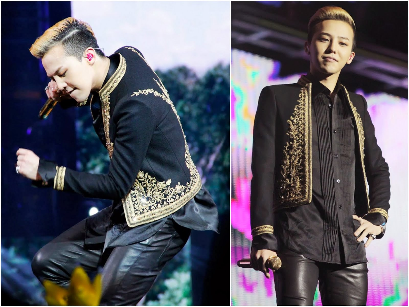 00O00 Menswear Blog: G-Dragon from Big Bang in Saint Laurent - World Tour 2013 Shanghai Concert May 2013