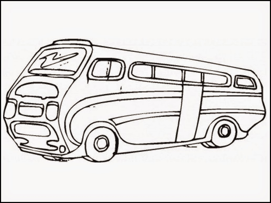 Bus Coloring Pages Preschool Free