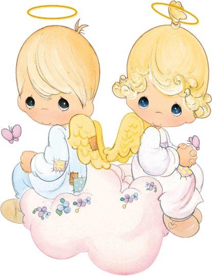 angeles en corona de flores angeles preciosos momentos para imprimir