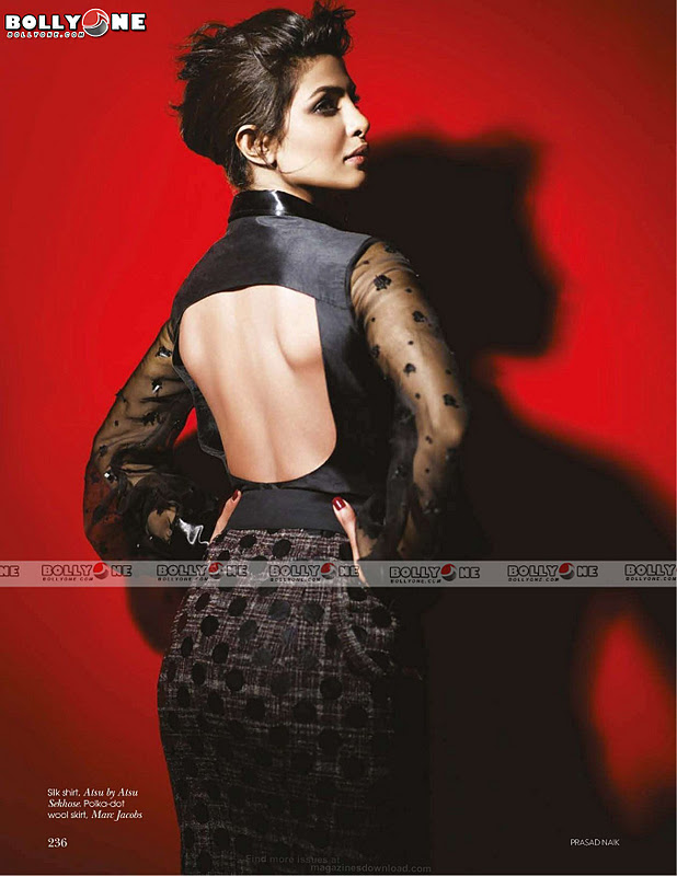 Priyanka Chopra Vogue Magazine December 2011 Scans