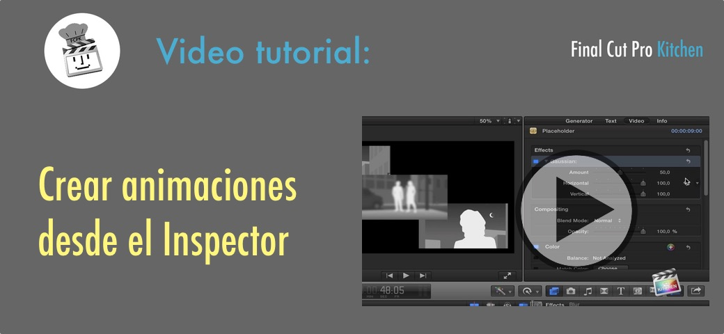 animar con FCP X tutorial