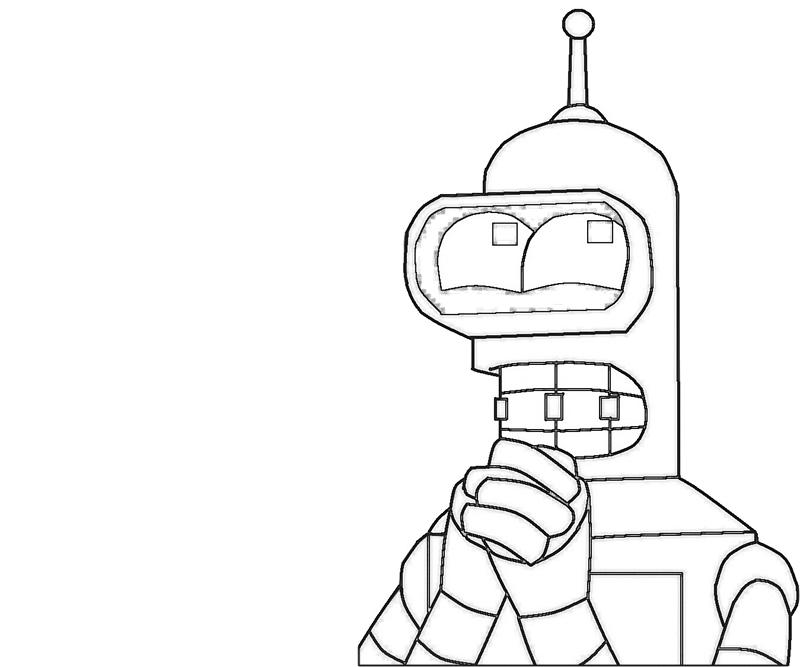 bender-pray-coloring-pages