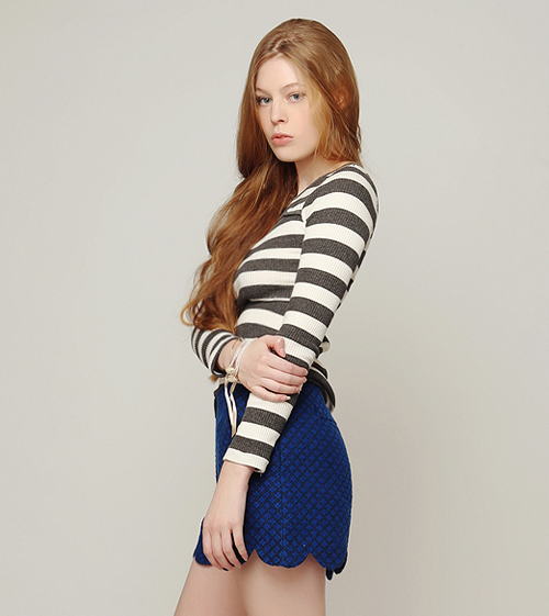 Striped Cut-out Perky Top