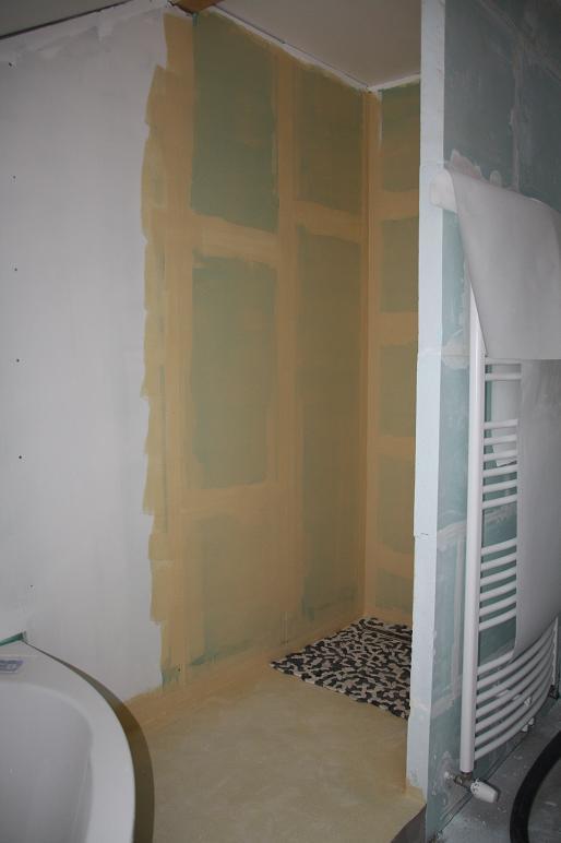 Autoconstruction de notre maison suite peinture et douche - Peinture hydrofuge douche ...