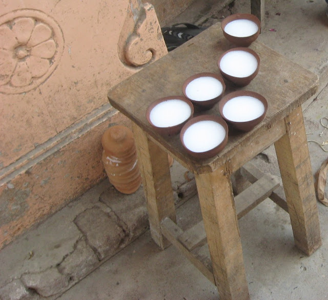 tazze in terracotta di chai