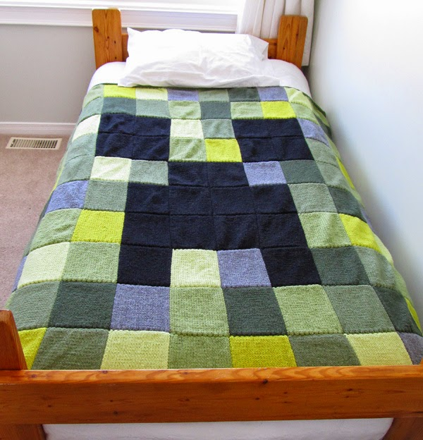 Get Knotted Yarn Craft Mine Craft Creeper Blanket Progress