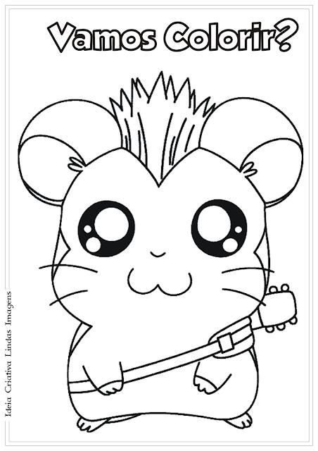 Hamtaro desenho para colorir