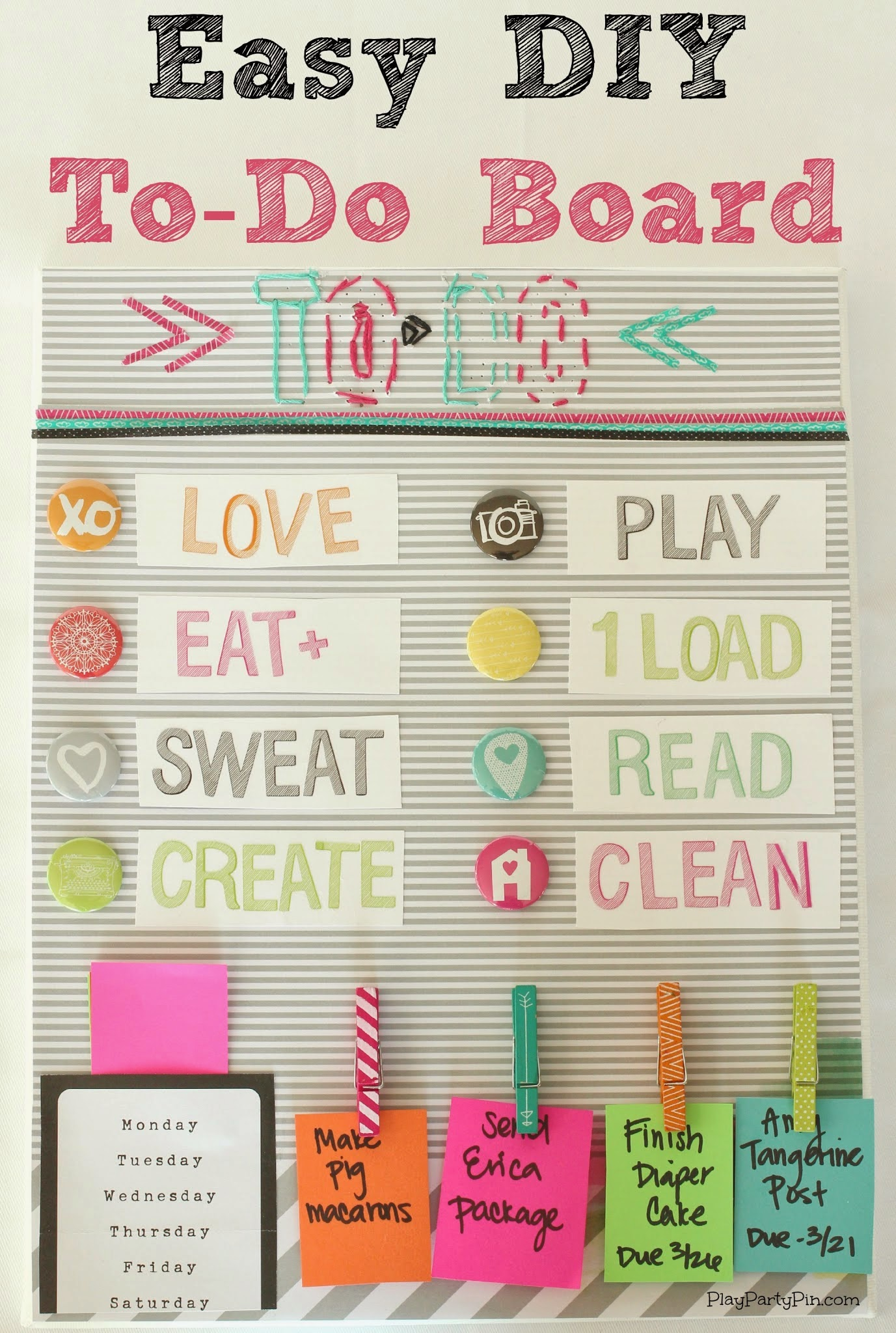 Diy to do board play party pin for Cute easy diy projects