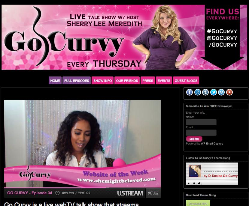 Go Curvy, website of the week, shemightbeloved