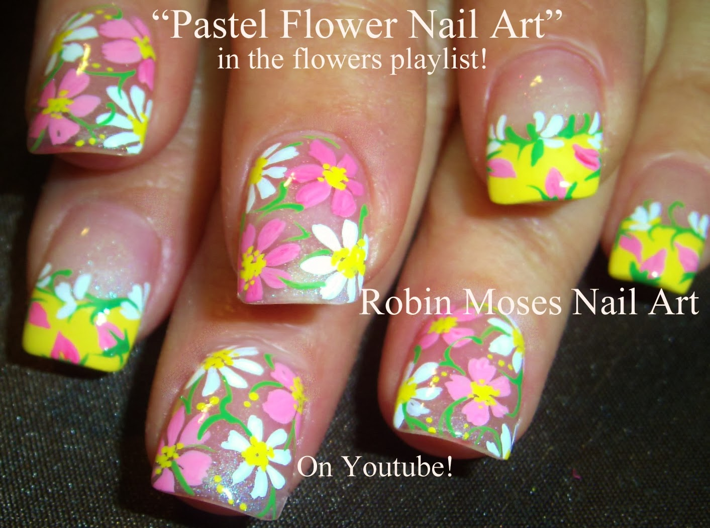 Nail Art By Robin Moses Spring Flowers Spring Nail Art Easter