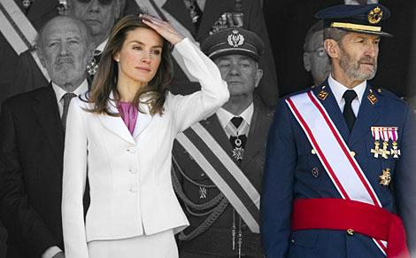 José Julio Rodríguez junto a la hoy reina Letizia.