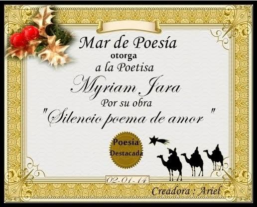 """Poema """"SILENCIOSO POEMA DE AMOR"""""""