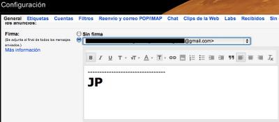 Configuración de Gmail