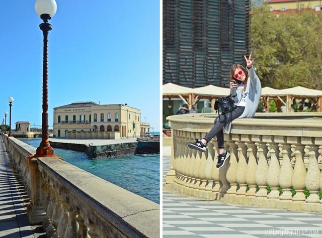 luzia pimpinella travel | toskana -  livorno strandpromenade terazza mascagni | tuscany - livorno boardwalk terazza mascagni