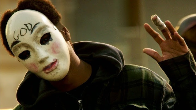purge anarchy masked men movie still