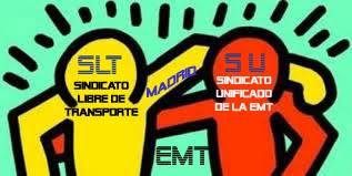 Sindicatos: Unificado y Libre de Transporte de la EMT Madrid (SLT-SU-EMT)