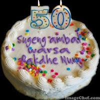 Inilah kumpulan ucapan Ulang Tahun dalam Bahasa Jawa, macam-macam ucapan ulang tahun bahasa Jawa, Ucapan ulang tahun bahasa Jawa utk SMS BBM WA