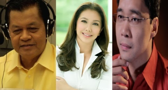 Korina Sanchez, Noli De Castro and Anthony Taberna, MAKATAO Awardees