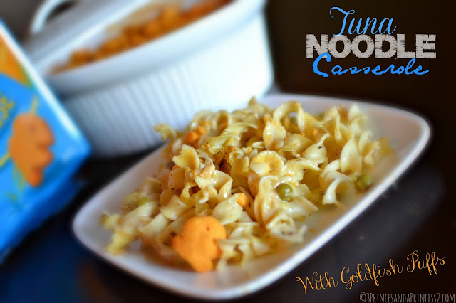 Tune Noodle Casserole with Goldfish Puffs #Makeitgopuff #shop