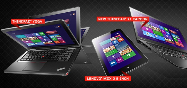 Lenovo Laptops, Tablets and Computer Models at CES 2014