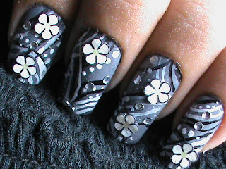 Easy nail designs with FIMO flower nail art- Fimo Canes nail art design Tutorial Video for beginners tips DIY
