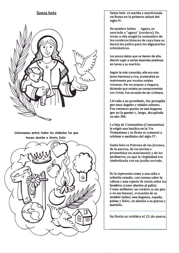 La Catequesis (El blog de Sandra): Recursos Catequesis Santa Inés ...
