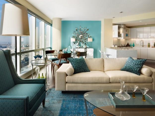 Colori Pareti Azzurro : Parete azzurro carta da zucchero amazing salotto soggiorno