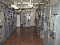 Electronics room of captured USS Pueblo, US spy ship moored in Pyongyang, North Korea
