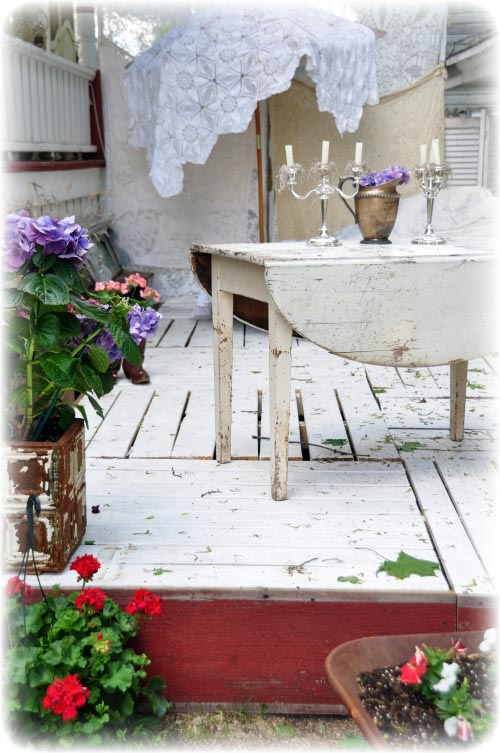Counting your blessings summer deck made out of pallets for Decking made from pallets