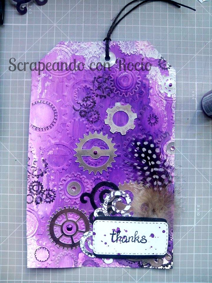 Tag steampunk mixed media Scrapbooking