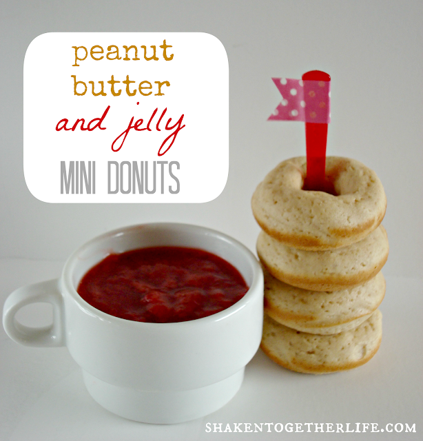 baked peanut butter & jelly mini donuts :: {taste this} at shaken together