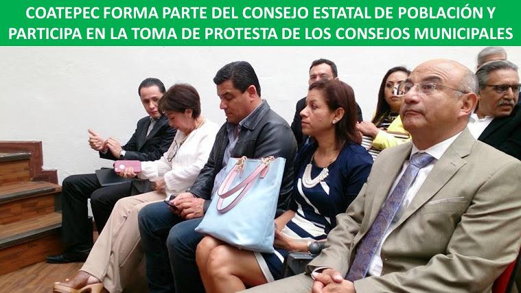COATEPEC FORMA PARTE DEL CONSEJO ESTATAL DE POBLACIÓN Y PARTICIPA EN LA TOMA DE PROTESTA DE LOS CON