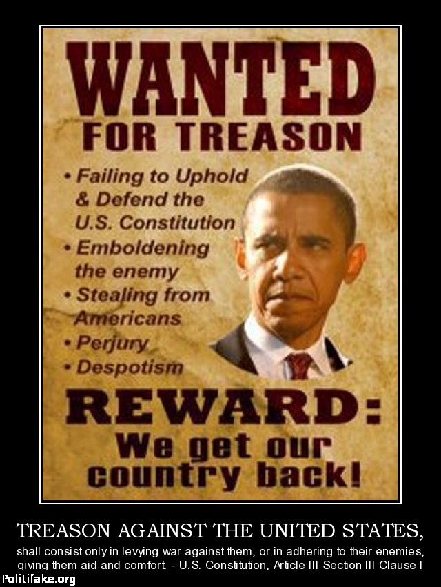 obama wanted for treason