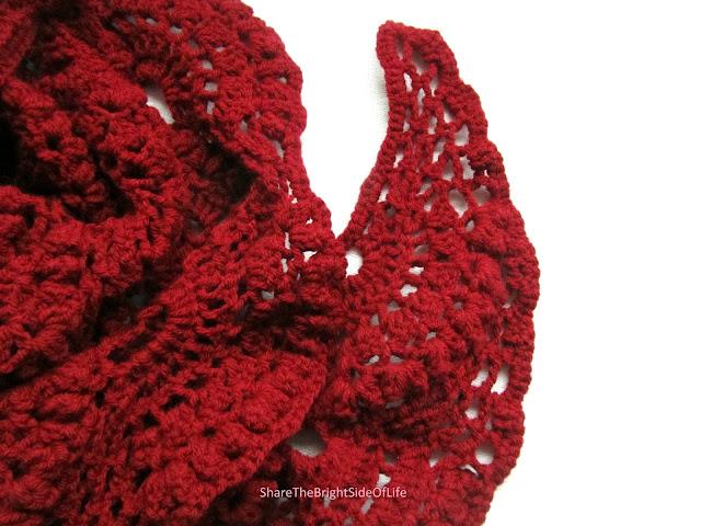 ShareTheBrightSideOfLife, Crochet scarf,gehaakte sjaal, Rosanne Ditewig