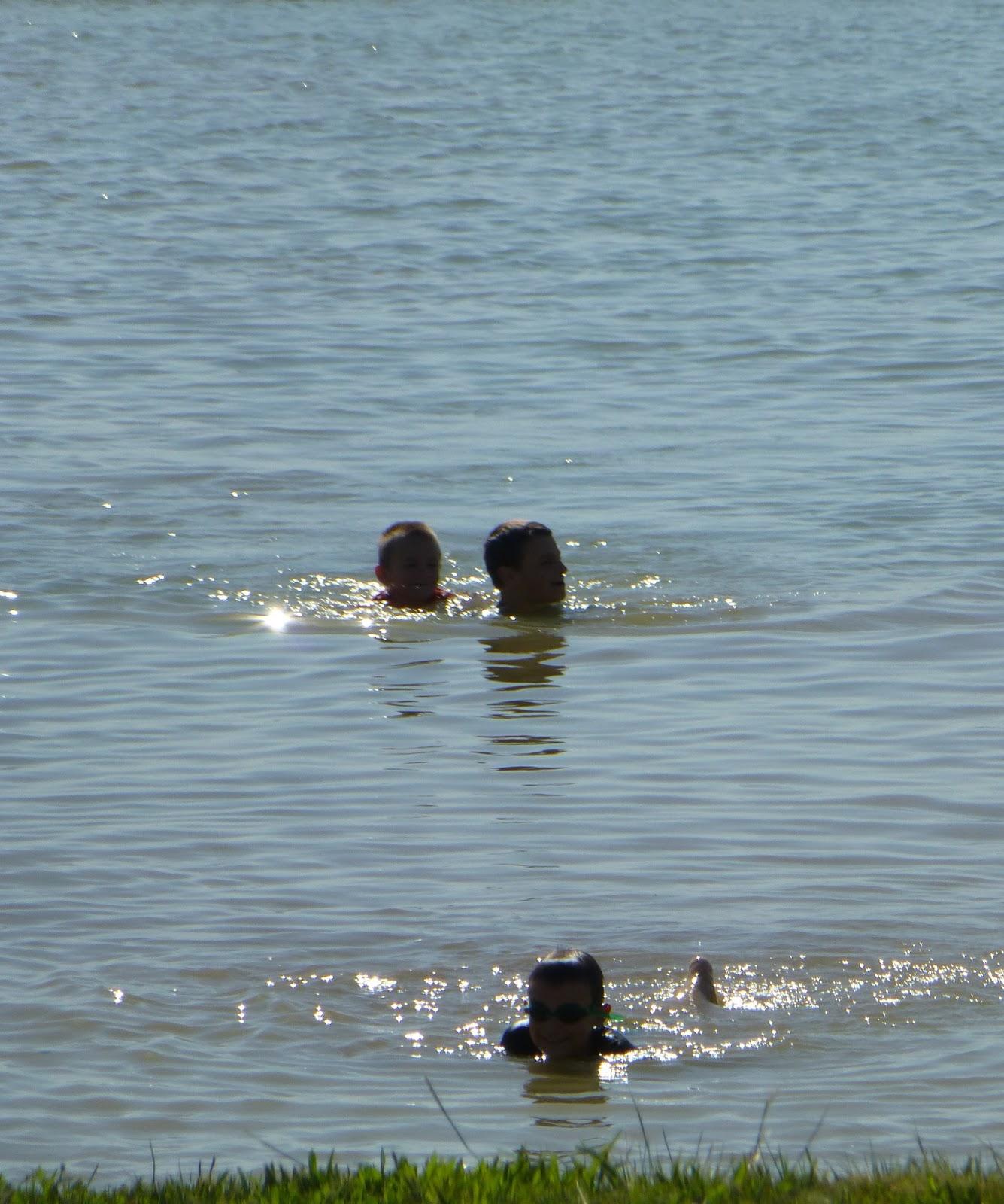 Roadschooling America Joe Pool Lake Swimming