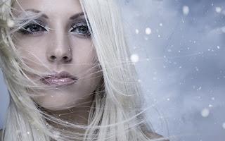 Blonde Look Snowflakes HD Wallpaper