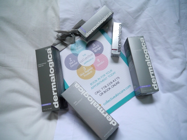Some of the Dermalogica products used during the Collective Skincare treatment.