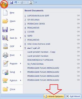 menampilkan tool undo, redo pada toolbar ms word