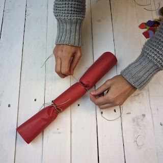 handmade Xmas Crackers, tutoriel, faire Xmas crackers handmade