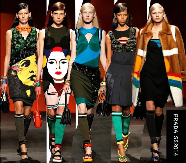 prada spring 2014 graphic dresses