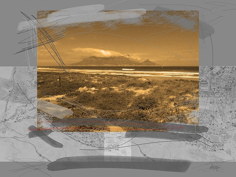 digital art print cape town landmark surreal landscape
