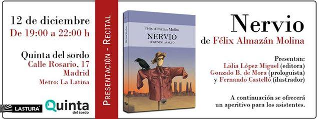"""Presentación de """"Nervio"""" de Félix Almazán Molina"""
